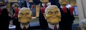 Newt Gingrich, hier als Handpuppe: Karrikatur oder Kämpfertyp?