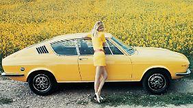 Werbung für den Audi 100 Coupé S aus dem Jahr 1970. Dieses Bild inspirierte die Designer.