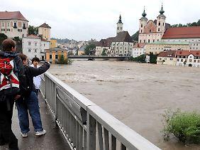 Hochwasser in Steyr.