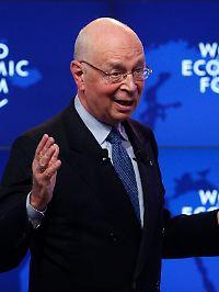 Klaus Schwab ist der Gastgeber des World Economic Forum.