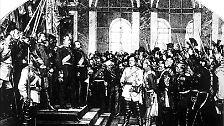 Vielleicht auch noch das zweite Reich, das sich selbst Deutsches Reich nannte. Dieses begann mit der Ausrufung des preußischen Königs Wilhelm zum Kaiser am 18. Januar 1871 im Spiegelsaal vom Schloss zu Versailles.