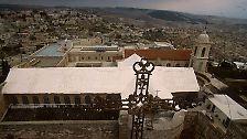 Bethlehem: Unter diesem Dach der heutigen Geburtskirche ist das Jesuskind geboren.
