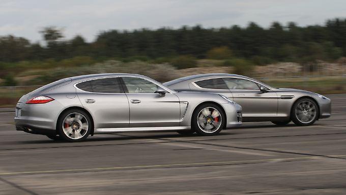 Je genauer man hinschaut, desto größer werden die Unterschiede des angeblich so ähnlichen Porsche Panamera und Aston Martin Rapide.