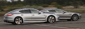 Je genauer man hinschaut, desto größer werden die Unterschiede des angeblich so ähnlichen Porsche Pnamera und Aston Martin Rapide.