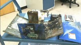 """""""Wir sind sehr besorgt"""": Dreamliner-Batterie völlig ausgebrannt"""