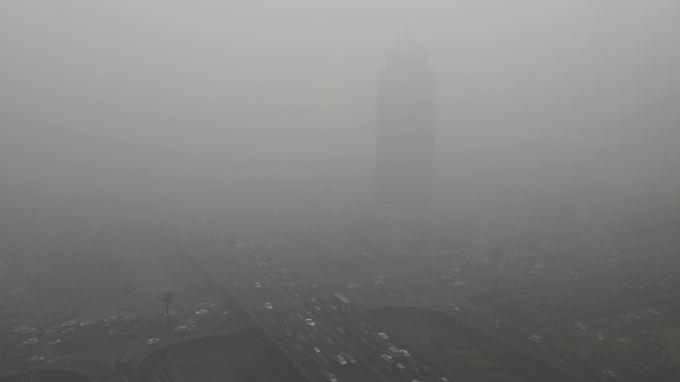 Eine Stadt verschwindet: Peking leidet in diesem Winter extrem unter Smog.