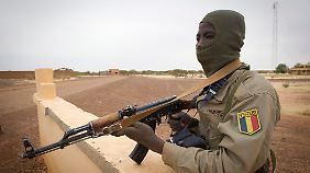 Auch Soldaten des Tschad kämpfen bereits in Mali, hier in der Stadt Gao.