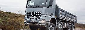 Rund 80.000 Euro kostet der Arocs in der Variante des Bau-Bullen.