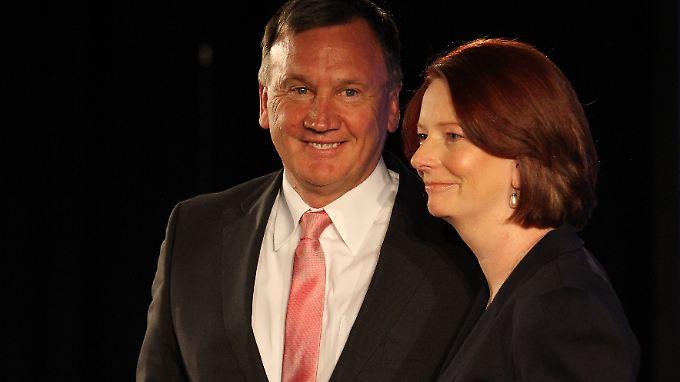 Mathieson und Gillard bei einem gemeinsamen Auftritt 2010.