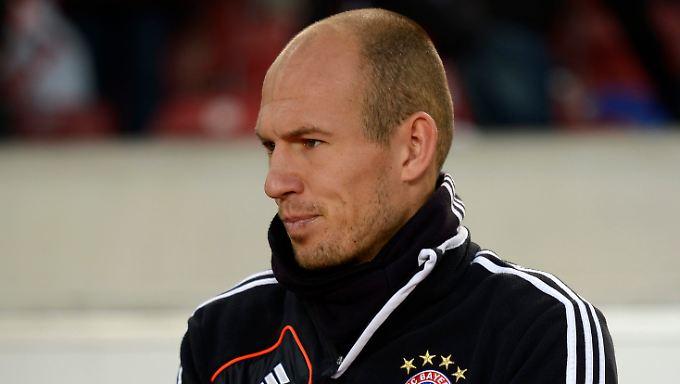 """""""Werde mich nicht hinten anstellen, natürlich nicht"""": Arjen Robben."""