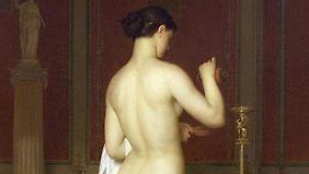 """""""Sappho geht zu Bett"""" wurde von dem Schweizer Maler Charles Gleyre 1867 gemalt und hängt heute im Kunstmuseum Lausanne."""