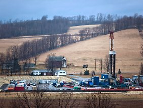 Ölförderung durch Fracking in Pennsylvania.