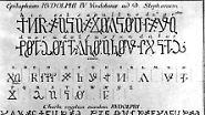 Der Urheber dieser Schrift soll Herzog Rudolph von Österreich (1339-1365) gewesen sein. Er soll damit diplomatische Korrespondenzen verschlüsselt haben. Sogar die Grabplatte des Herzogs im Wiener Stephansdom trägt eine Inschrift in dieser geheimen Schrift.