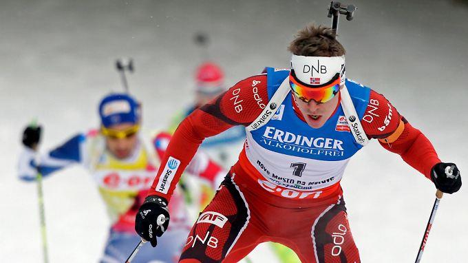 Unerreichbare Spitze: Der dreifache Gold-Gewinner Emil Hegle Svendsen läuft ebenso wie Martin Fourcade aus Frankreich in einer anderen Liga als die Deutschen.