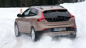 Im Schnee wirkt beim T5 auch an der Hinterachse die Antriebskraft.
