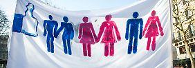 Die deutliche Mehrheit der Franzosen ist für die Homo-Ehe, das Adoptionsrecht für gleichgeschlechtliche Partnerschaften ist hingegen umstritten.