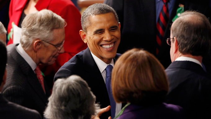 Barack Obama eckt mit seiner Rede zur Lage der Nation innenpolitisch an.