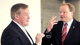 Staatssekretär Hans-Jürgen Beerfeltz mit Minister Dirk Niebel.