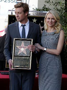 Australische Stars in Hollywood: Simon Baker mit Naomi Watts und seinem Stern.