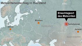 Tscheljabinsk liegt an der Grenze zu Kasachstan.