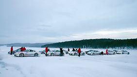 Reichlich Platz zum Driften: Das Pasajärvi-See ist rund 7 km lang.