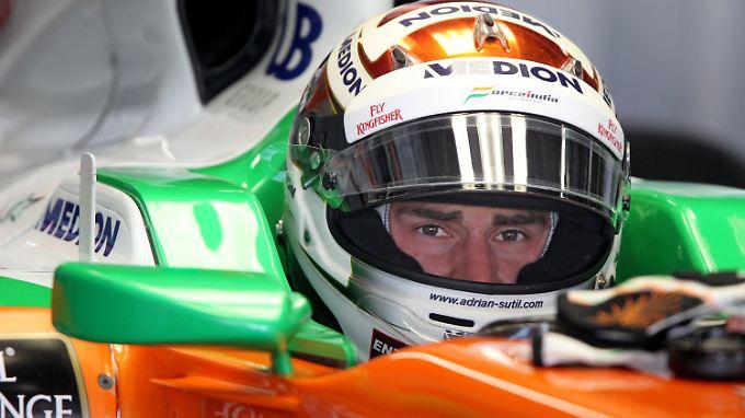 Er will doch nur fahren: Adrian Sutil.