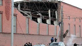 Eine Zink-Fabrik in Tscheljabinsk wurde stark beschädigt.