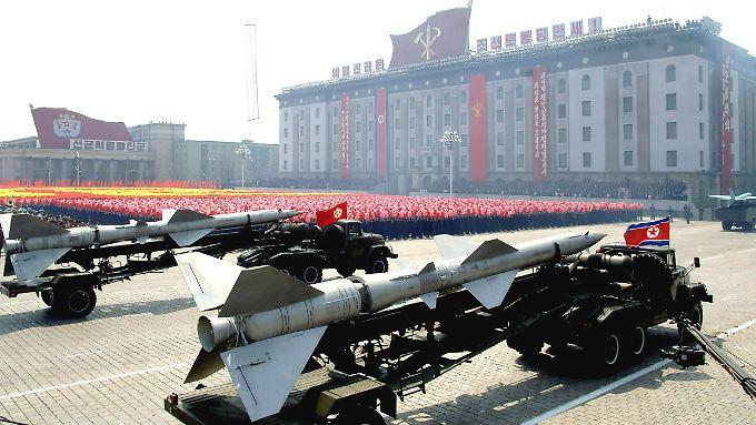 Militärische Drohgebärden: Nordkorea hat wieder einen Atomtest durchgeführt und die nächsten sind schon angekündigt.