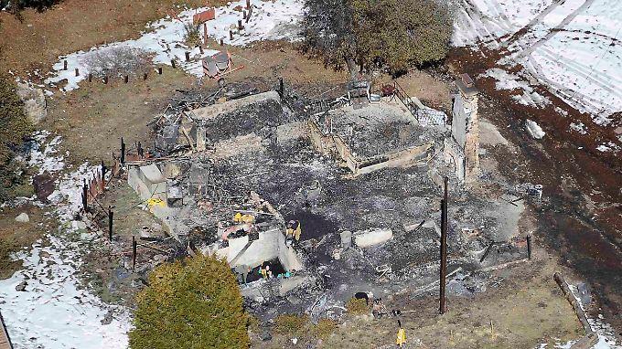Die Jagdhütte, in der Dorner gestellt wurde, brannte bis auf die Grundmauern ab.
