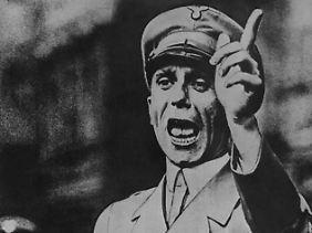 Kein großer Rhetoriker: Hitlers Propagandaminister Joseph Goebbels