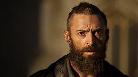 Hugh Jackman spielt den ehemaligen Strafgefangenen Valjean zwischen Verzweiflung und Kampfeswillen.