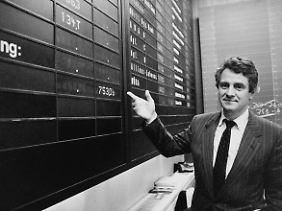Plattner beim Börsengang von SAP 1988.