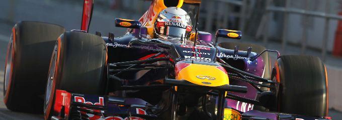 Ohne Probleme: Sebastian Vettel in seinem Red Bull.