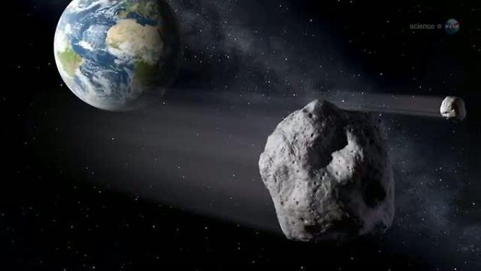 """Vom Asteroiden """"2012 DA 14"""" wusste man ein Jahr, bevor er der Erde nahe kam. Für eine Abwehr hätte diese Zeitspanne wahrscheinlich nicht ausgereicht."""