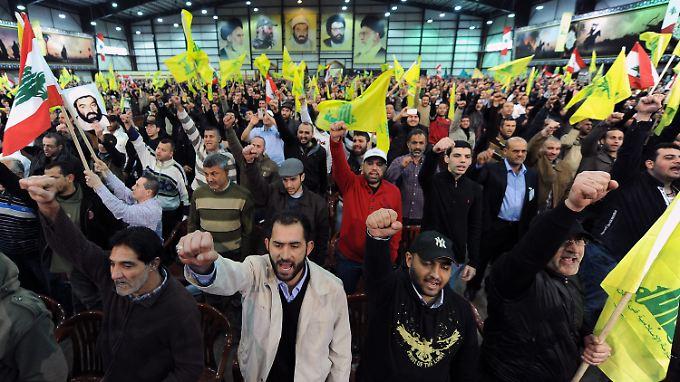 Hisbollah-Anhänger bei einer Veranstaltung in Beirut.