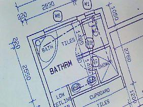Das Badezimmer, in dem die tödliche Schüsse fielen.