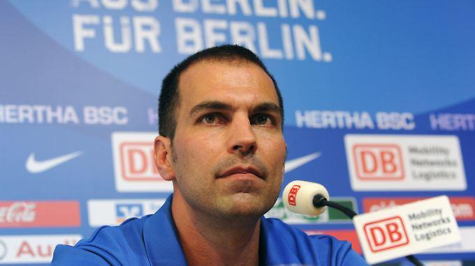 Geht die neue Saison mit viel Optimismus an: Herthas Trainer Markus Babbel.