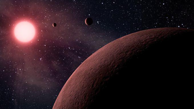 Der Mars ist rot, weil er mit einer Schicht aus Eisenoxid überzogen ist.