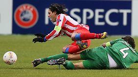 Falcao, Madrids Stürmerstar, trifft zwar, aber ein Tor reicht nicht.