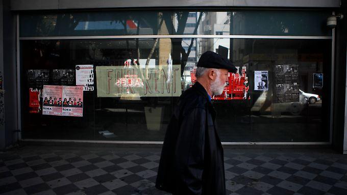 Geschlossenes Geschäft in Nikosia.