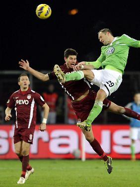 Am Einsatz lag es nicht, dass Offenbach sich dem Erstligisten Wolfsburg geschlagen geben musste.