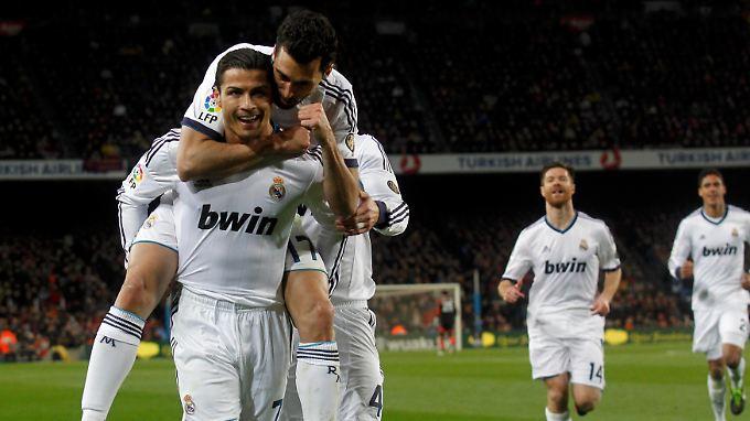 Mr. Doppelpack: Cristiano Ronaldo war im Duell mit Barcelonas Weltfußballer Lionel Messi der bessere Superstar.
