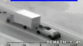 Halsbrecherischer Diebstahl: Truck-Räuber entern LKW