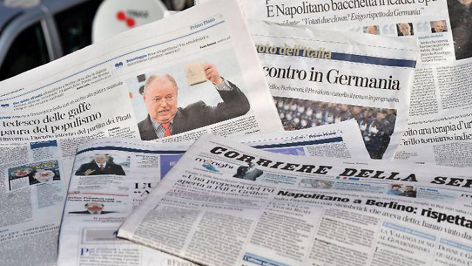 Die Zeitungen des heutigen Tages in Rom.