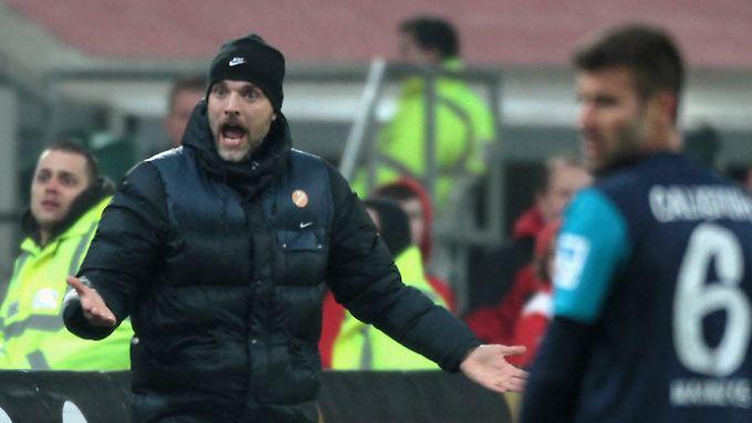 Der Mainzer Trainer Thomas Tuchel hat auch schonmal mehr gelacht.
