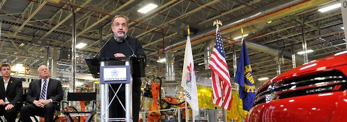 Sergio Marchionne bei einer Rede im Chrysler-Werk Belvidere im US-Bundesstaat Illinois (Archivbild).