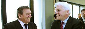 Gerhard Schröder und Frank-Walter Steinmeier haben ihrer SPD sehr viel zugemutet.