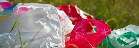 Grünes Umweltanliegen: 22 Cent auf Plastiktüten