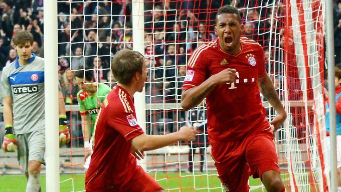 Jerome Boateng nahm 130 Ligaspiele Anlauf, ehe es gegen Fortuna Düsseldorf endlich mit seinem ersten Bundesligator klappte. Dafür war es dann auch noch das Siegtor.