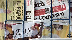 Nicht nur in den italienischen Medien war und ist die Papstwahl ein großes Ereignis.